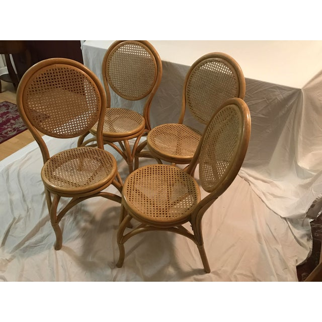 Sheet Cane Bentwood Bistro Chairs - Set of 4 - Image 10 of 10
