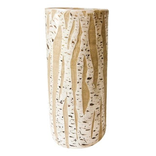 Handmade Birch Tree Pottery Vase