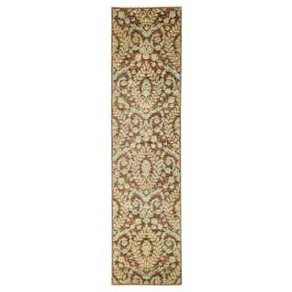 """Eclectic, Hand Knotted Runner Rug - 2' 5"""" X 9' 7"""""""