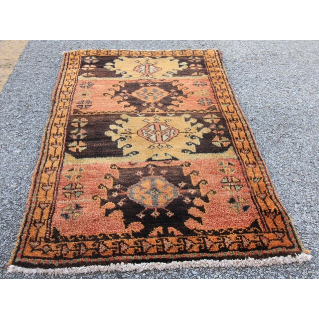 Vintage Turkish Oushak Tribal Hand Knotted Rug- 2′2″ × 3′5″ - Image 4 of 6