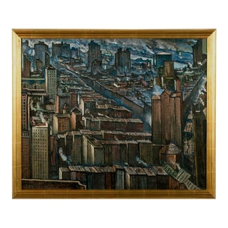 Signed - Jean Negulesco (1900-1993) New York City Scene 1929