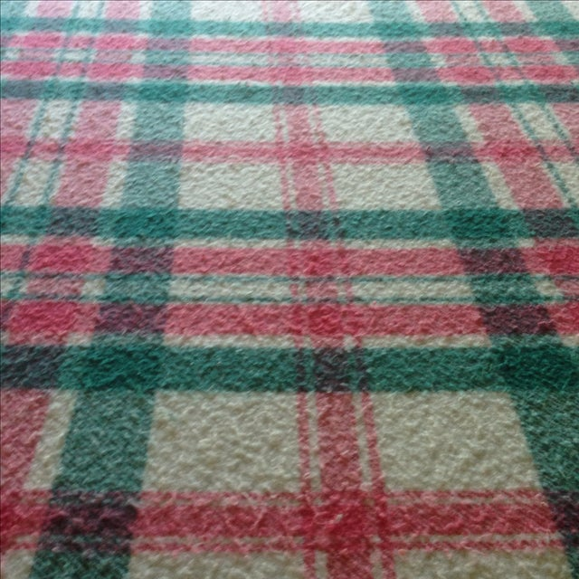 Vintage Plaid Picnic/Gameday Blanket - Image 8 of 11