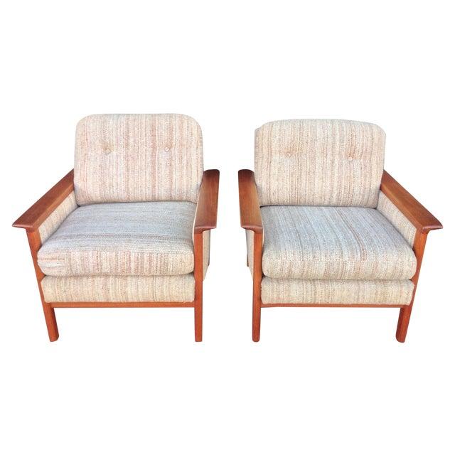 Mid-Century Danish Teak Danish Chairs - A Pair - Image 1 of 7