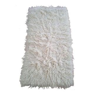 Vintage Flokoti Wool Rug - 1′11″ × 4′5″