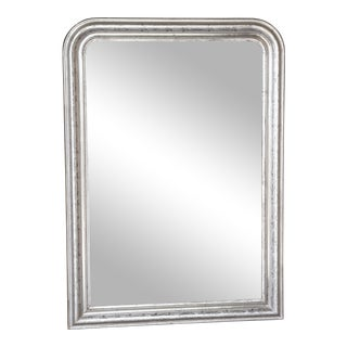 19th Century Louis Philippe Silver Leaf Mirror