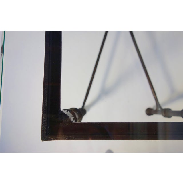 Giacometti Style Wrought Iron Console Table - Image 6 of 8