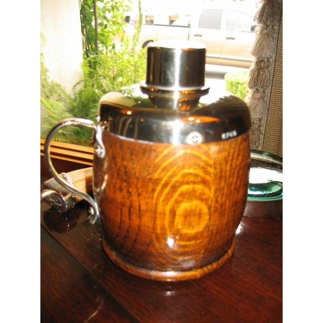 Antique English Oak Tea Caddy - Image 4 of 4
