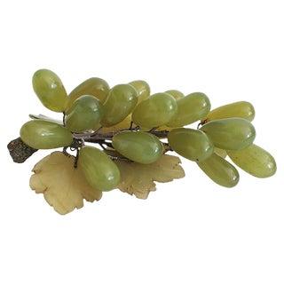 Carved Jade Grape Cluster