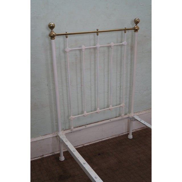 Image of Antique Victorian Painted Iron Twin Beds - A Pair