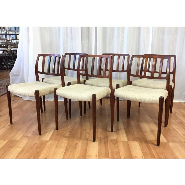 "Niels Møller ""Model 83"" Rosewood Dining Chairs - Set of 6 - Image 2 of 10"