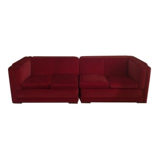 Mid-Century Style Two Piece Sofa
