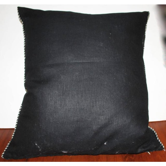 Monumental Chac Mool Mexican/American Indian Weaving Pillow - Image 4 of 4