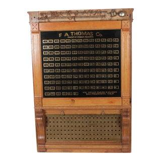 Antique Annunciator Call Box
