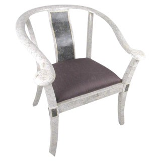 Maitland-Smith Style Tessellated Marble Armchair