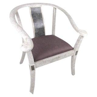 Maitland-Smith Style Tessellated Marble Armchair