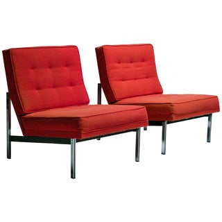 Knoll Mid-Century Chairs & Side Tables - a Pair