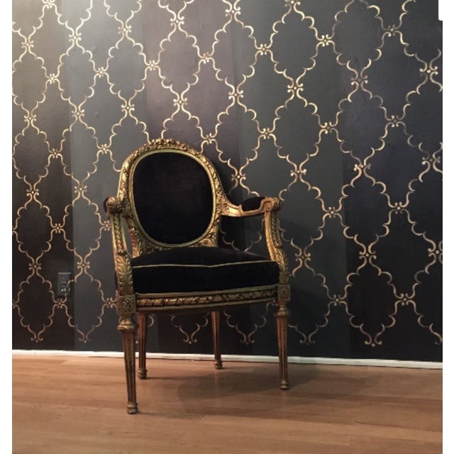 Antique French Louis XVI Rococo Gilt Armchair - Image 2 of 6