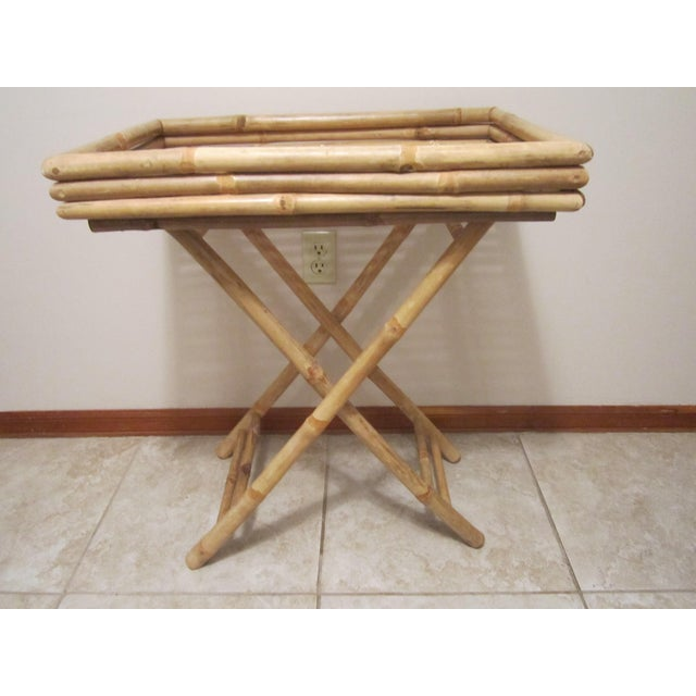 Bamboo & Rattan Table Tray - Image 7 of 11