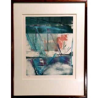 """Passage"" Modern Abstract Lithograph"