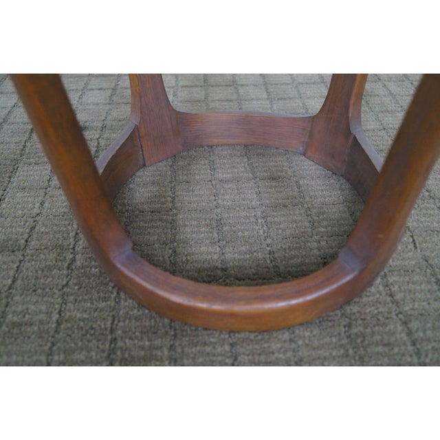 Lane Mid-Century Modern Round Walnut Side Table - Image 5 of 10