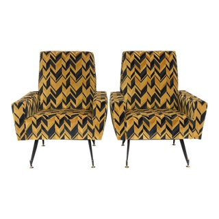 Original Pair of Lounge Chairs by Osvaldo Borsani
