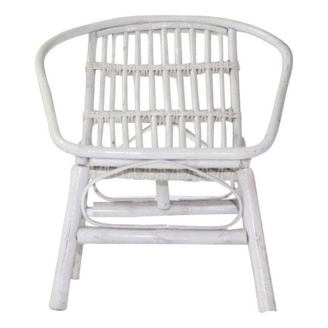 Laguna Rattan Arm Chair in White - Image 1 of 2