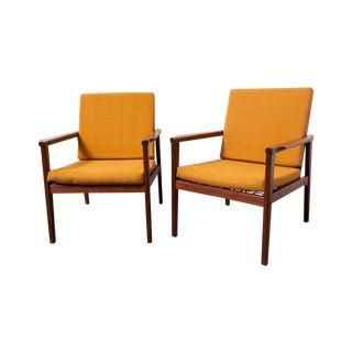 Mid-Century Danish Teak Lounge Chairs - A Pair