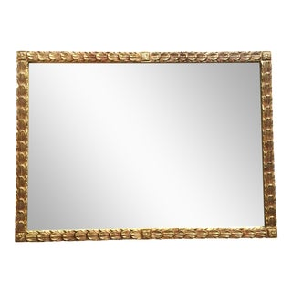 Vintage Gold Feather Filigree Mirror