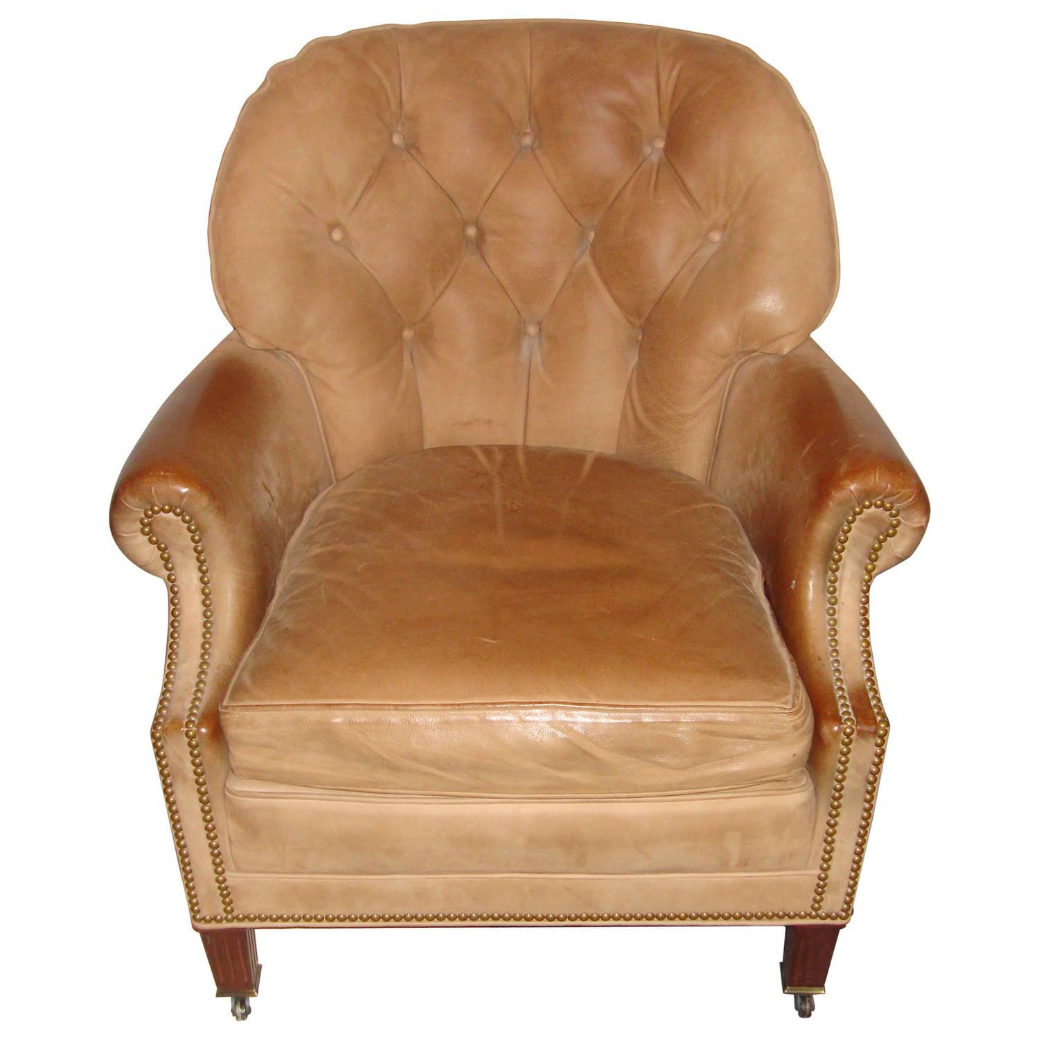Hancock U0026 Moore Leather U0026 Nailhead Armchair