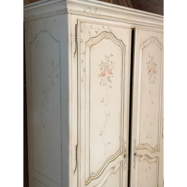Ethan Allen Painted French Country Armoire Chairish