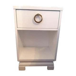 White Lacquered Side Table - A Pair