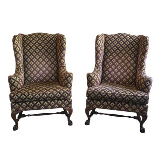 Baker Wingback Chairs - A Pair