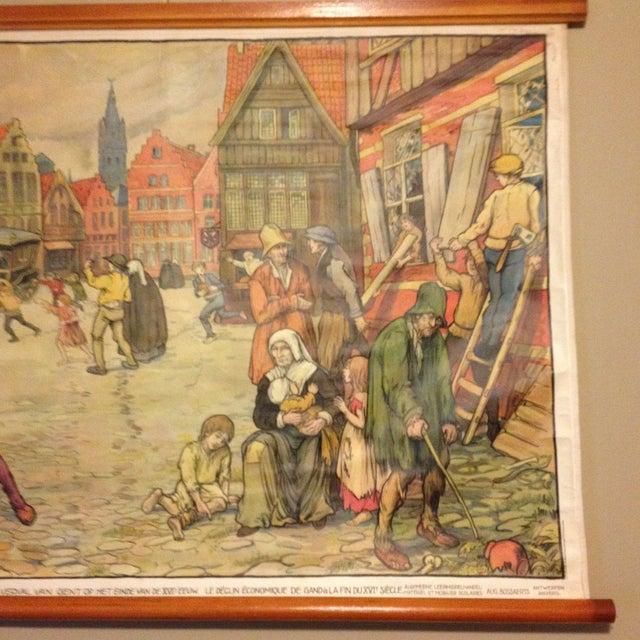 Vintage Belgian History School Chart Art - Image 4 of 10