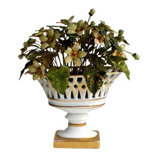 Jane Hutcheson for Gorham French Style Porcelain Flower Arrangement