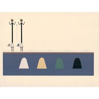 "Maud Oakes ""Across Water"" Navaho War Ceremonial Print"