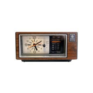 General Electric Alarm Clock Radio Wood Grain Mid Century Modern