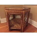 Image of Boho Woven Rattan Side Table
