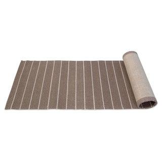 Striped Sisal Runner - 2′6″ × 9′