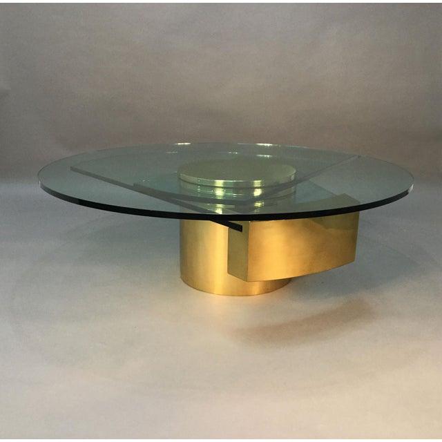 Dakota Jackson Self Winding Brass & Glass Table - Image 9 of 9