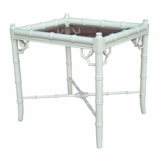 Chinoiserie Style Faux Bamboo Side Table
