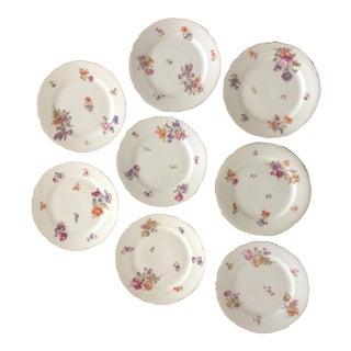 Hutschenreuther Porcelain Multifloral Dessert Plates - Set of 8
