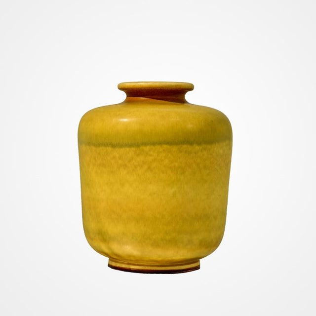 Large Yellow Stoneware Vase by Berndt Friberg for Gustavsberg - Image 2 of 4