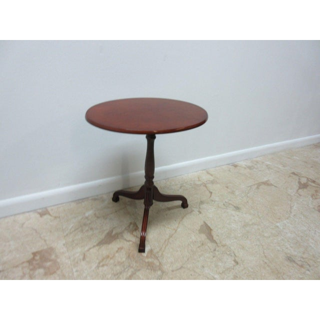 Bombay Company Cherry Tilt Top Oval Lamp End Table Chairish