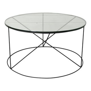 Calypso Round Metal Glass Coffee Table