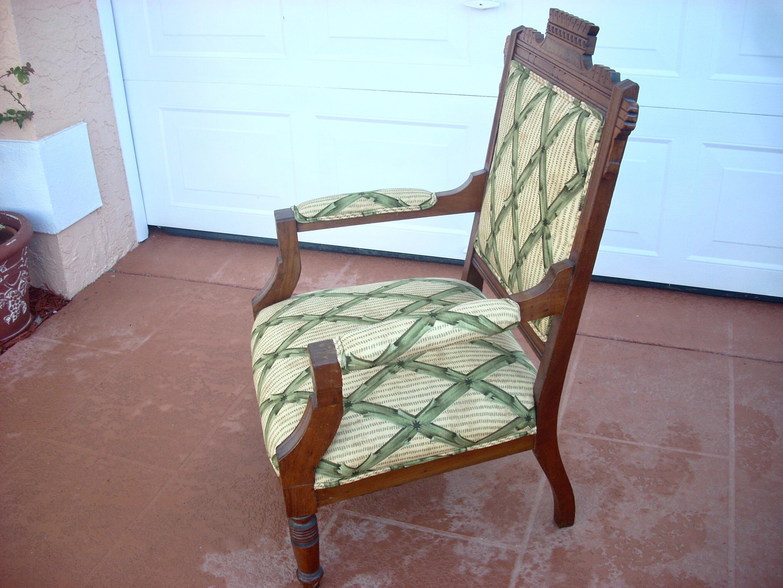 Victorian Eastlake Style Upholstered Slipper Chair   Image 4 Of 4