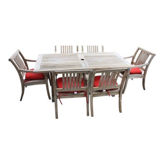 Gloster Teak Patio Dining Set - Set of 7