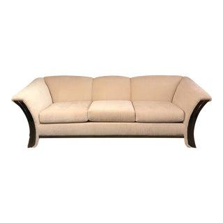 70's Mid-Century Brass Trim Sofa