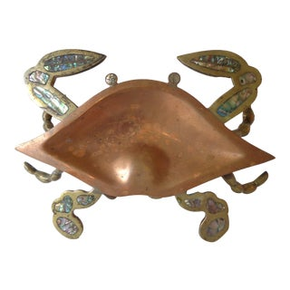 Abalone Inlaid Crab Catchall