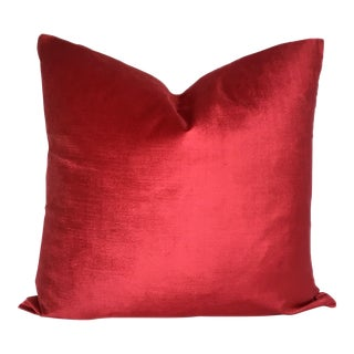 Pedal to the Metal Pink Velvet Pillow
