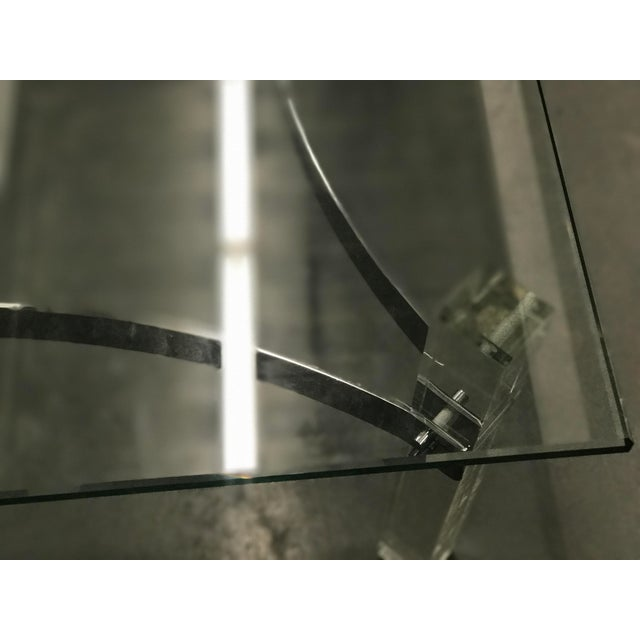 Mid-Century Lucite & Chrome Coffee Table - Image 6 of 6